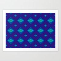 Azul electrico Art Print