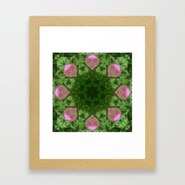 """""""Pink Lips"""" Lilly Reflection Framed Art Print"""