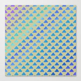 Blue green triangles Canvas Print