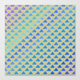 Blue green triangles Canvas Print