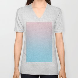 HEAD IN THE CLOUDS - Minimal Plain Soft Mood Color Blend Prints Unisex V-Neck