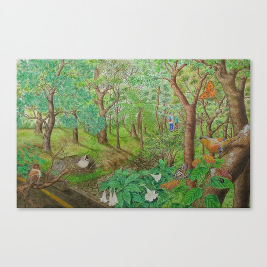 A Day of Forest (1). (walk into the forest) Canvas Print