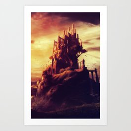Castle on the Hill Art Print