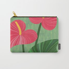 A Pair Of Anthurium Hearts Carry-All Pouch