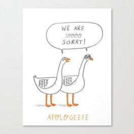 Apologeese Canvas Print