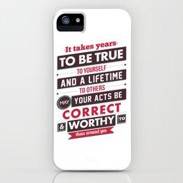 Nine Noble Virtues - Loyalty iPhone Case