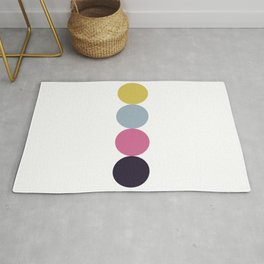Four colorful circles Rug