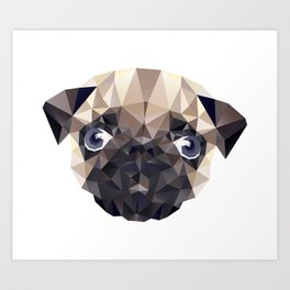 Pug Diamonds Art Print
