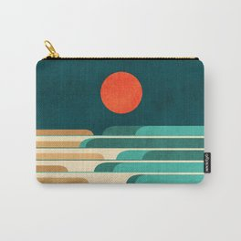 Chasing wave under the red moon Carry-All Pouch