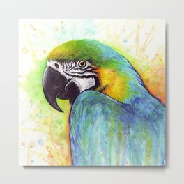 Macaw Bird Parrot Colorful Tropical Animal Metal Print