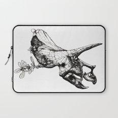 Jurassic Bloom - The Horned. Laptop Sleeve