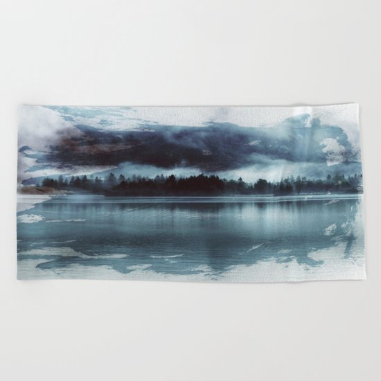 Paint it black Beach Towel