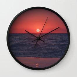 Restless Sunset Wall Clock