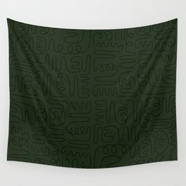 Loops & Curves - Green Wall Tapestry