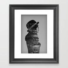 Black on black Framed Art Print
