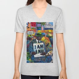 African American Atlanta Civil Rights Memorial Portrait No. 1 Unisex V-Neck