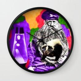 Man Beard Skunk Lava Lamp Wall Clock