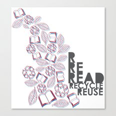 read, recycle, reuse Canvas Print