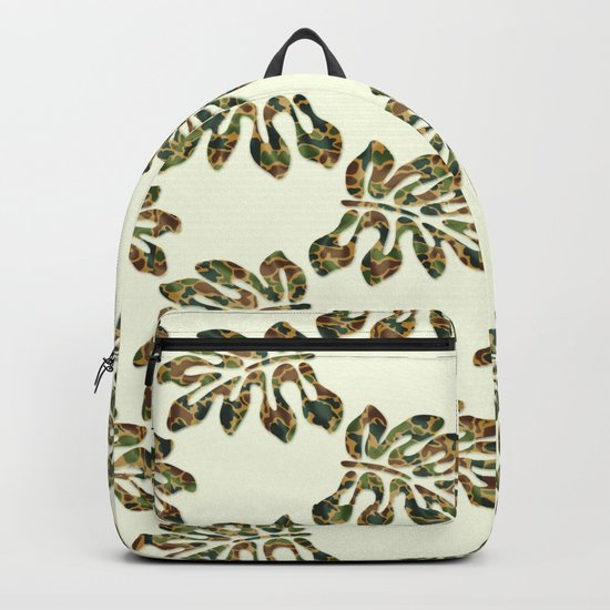 Camouflage Tropical Leaves Backpack