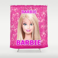 barbie Shower Curtains featuring Barbie by Maxvision