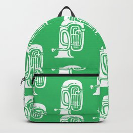 Tuba Pattern Green Backpack