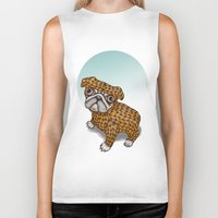puppy Biker Tanks featuring PUPPY by evafialka
