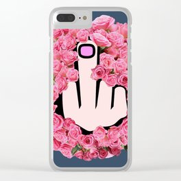 The Glamorous Middle Finger Clear iPhone Case