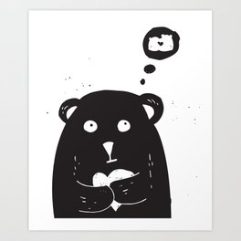 Dreamy bear Art Print