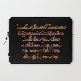 "Funny ""Ghost of Christmas Past"" Joke Laptop Sleeve"