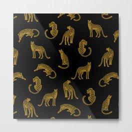 Big Cat Pattern Metal Print