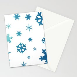 Snowflakes Watercolor Pattern Inspired by Frozen Stationery Cards