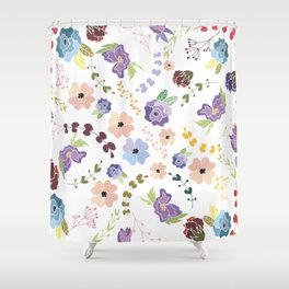 Floral Pattern II Shower Curtain