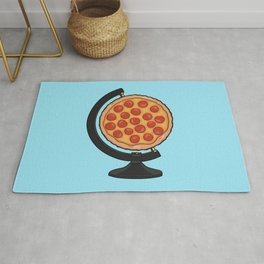 Pizza Makes the World Go Round Rug