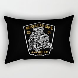 muscle engine american Rectangular Pillow