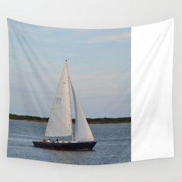 Nantucket Sail boat Wall Tapestry