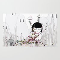 i want to believe Area & Throw Rugs featuring I WANT TO BELIEVE by Agente Morillas