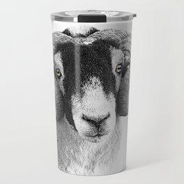 Black and which moorland sheep Travel Mug