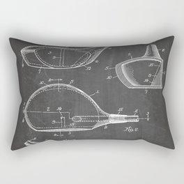 Golf Driver Patent - Golf Art - Black Chalkboard Rectangular Pillow