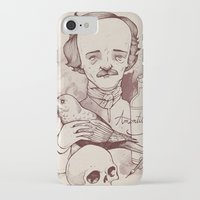 poe iPhone & iPod Cases featuring Poe by hatrobot