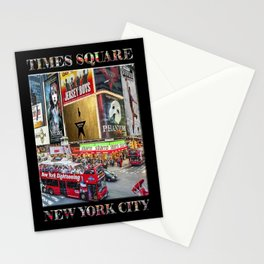 Times Square II (widescreen on black) Stationery Cards