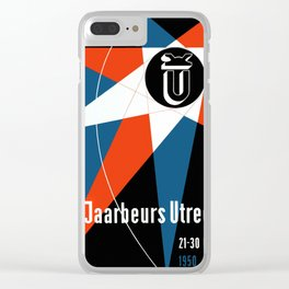 Exhibition Poster Jaarbeurs Utrecht 1950 by Otto Treumann Clear iPhone Case