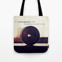 tool Tote Bags featuring Photographer's Tool  by Jo Bekah Photography