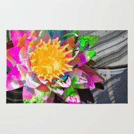Abstract Flower Art - Wild Lotus Flower - Sharon Cummings Rug