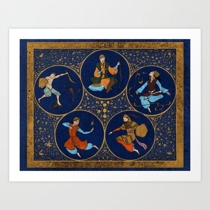 Amino Acid Horoscope Art Print