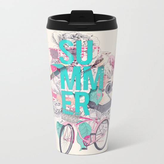 Summer Metal Travel Mug