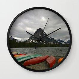 Two Medicine Lake With Sinopah Mountain Wall Clock