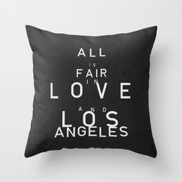 ALL IS FAIR II Throw Pillow