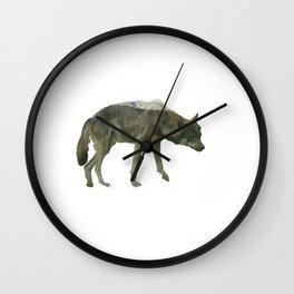 Shaggy wolf Wall Clock