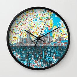 houston city skyline Wall Clock