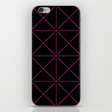 Adorned Trellis - Pink/Black iPhone & iPod Skin